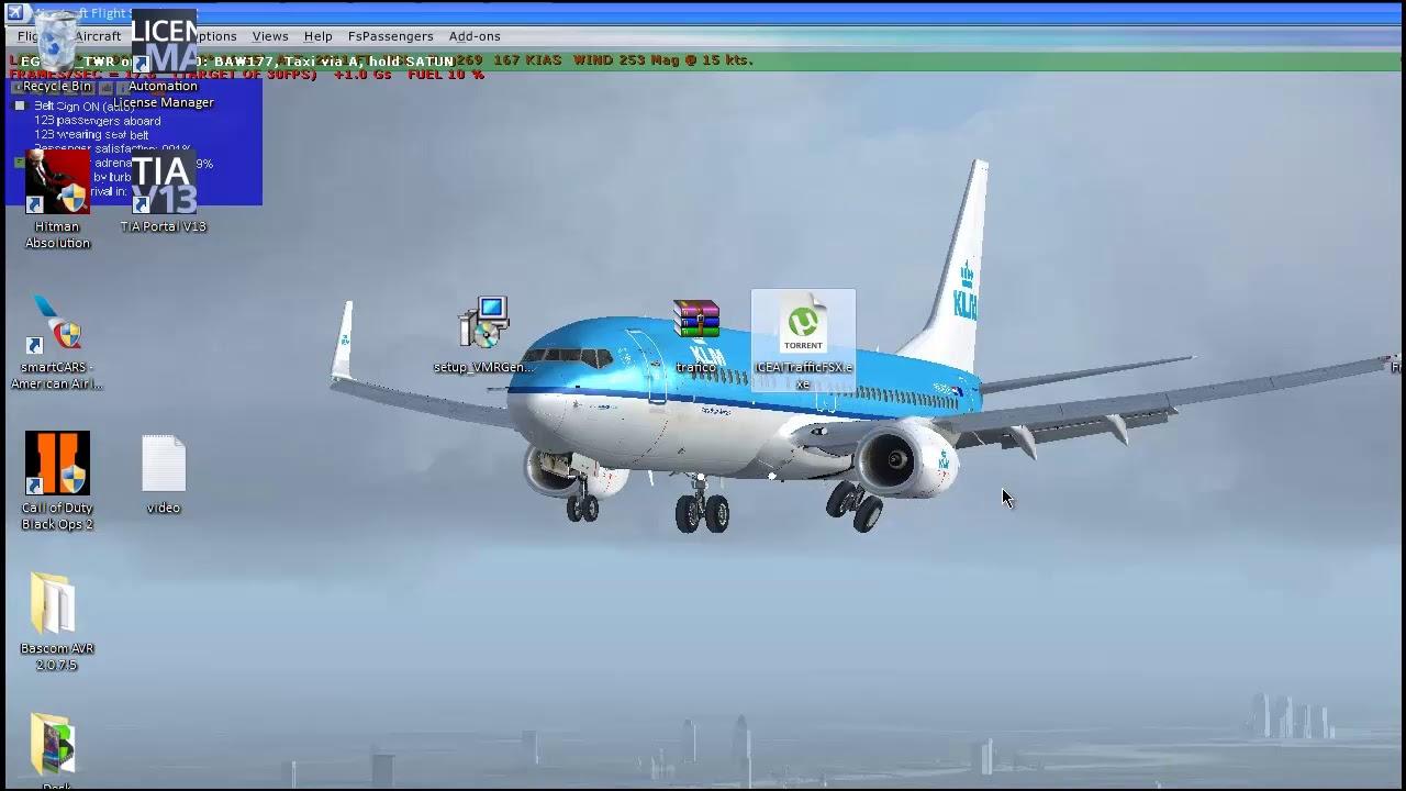 Como poner trafico en el simulador FSX ICE AI Traffic 6 0