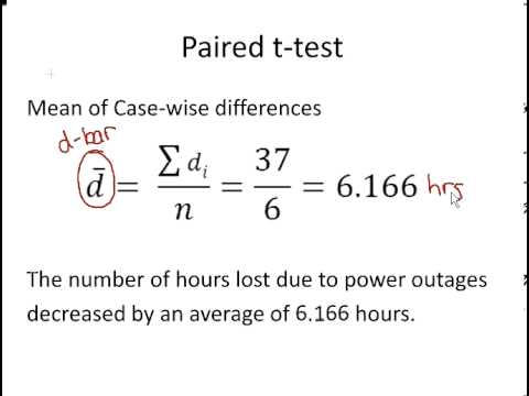 Statistics and Probability : Paired t-Test Calculations