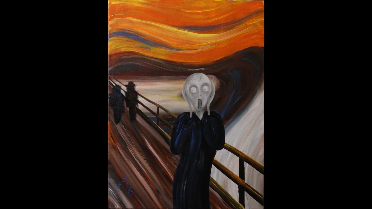 The Scream By Edvard Munch Step Acrylic Painting On Canvas For Beginners