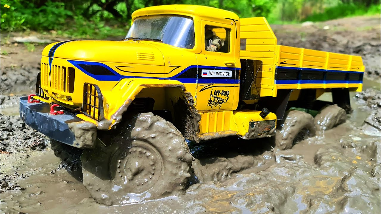 RC MUD Extreme and Puddle Racing — ZIL 131 6x6 vs GAZ 66 – Wilimovich