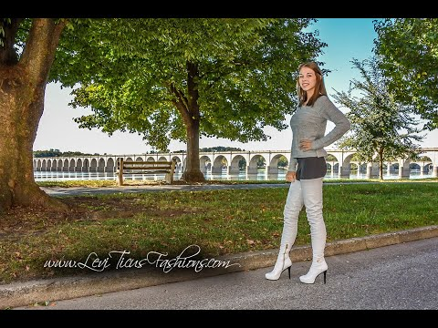 PEARLE GREY LEATHER THIGH BOOTS FALL 2019 OOTD WITH MODEL FELICIA ANN