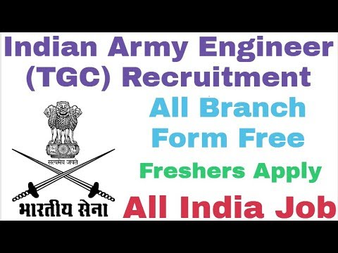Indian Army Engineer Recruitment 2018 || Form Free || All India Job