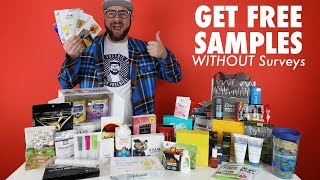 How to get FREE SAMPLES by Mail WITHOUT SURVEYS!