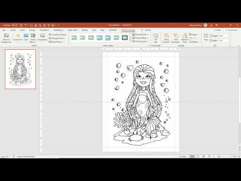 Create Coloring Pages In PowerPoint