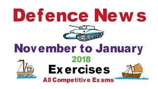 Latest Defence News ( All Army Exercises ) November to January 2018   All Competitive Exams