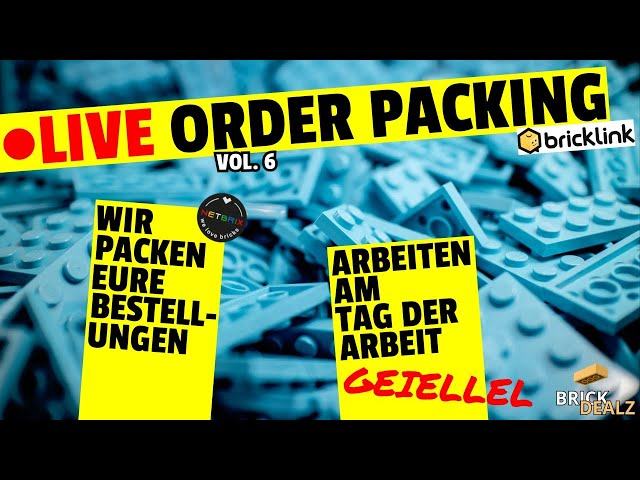 🔴 LIVE ORDER PACKING VOL.6 | Mit NETBRIX