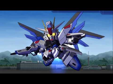 SD Gundam G-Generation Wars - Freedom Gundam All Animations