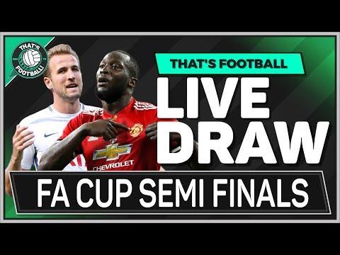 FA Cup LIVE Semi Final Draw Watchalong | Tottenham vs Man United!