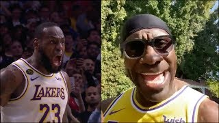 Shannon Sharpe reacts t๐ the Lakers win vs the Clippers