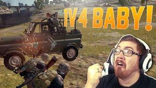 1V4 BABY!!!! PLAYERUNKNOWN'S Battleground Mobile [PUBG]