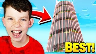 THE WORLDS LARGEST Minecraft PARKOUR TOWER with MY LITTLE BROTHER!