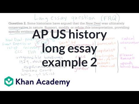 AP US History Long Essay Example 2 | US History | Khan Academy
