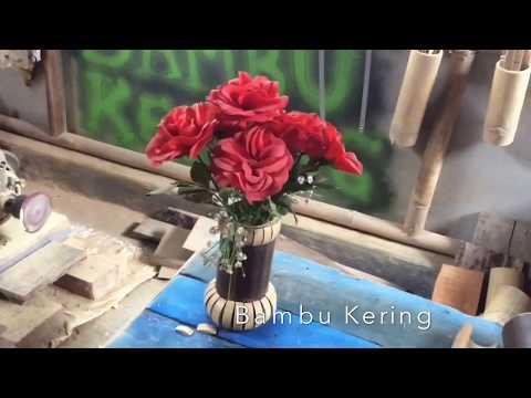 Cara Membuat Vas Bunga Cantik dan Tempat HP dari Bambu