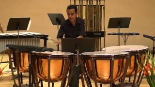 Concerto for Timpani and Percussion Ensemble (3)  Player: Edwin Tovar.  México.