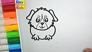 How to Draw Guinea Pig Coloring Pages | Kids Learn Drawing | Art Colors for Children