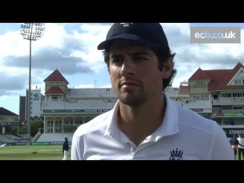 Captain Alastair Cook jokes about his 'genius' bowling