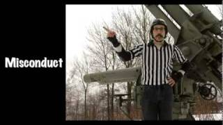 Flat track roller derby referee hand signals for beginners