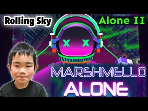 Rolling Sky 【AloneII-Marshmello Alone】100%(1Crown&13gems) ローリングスカイ