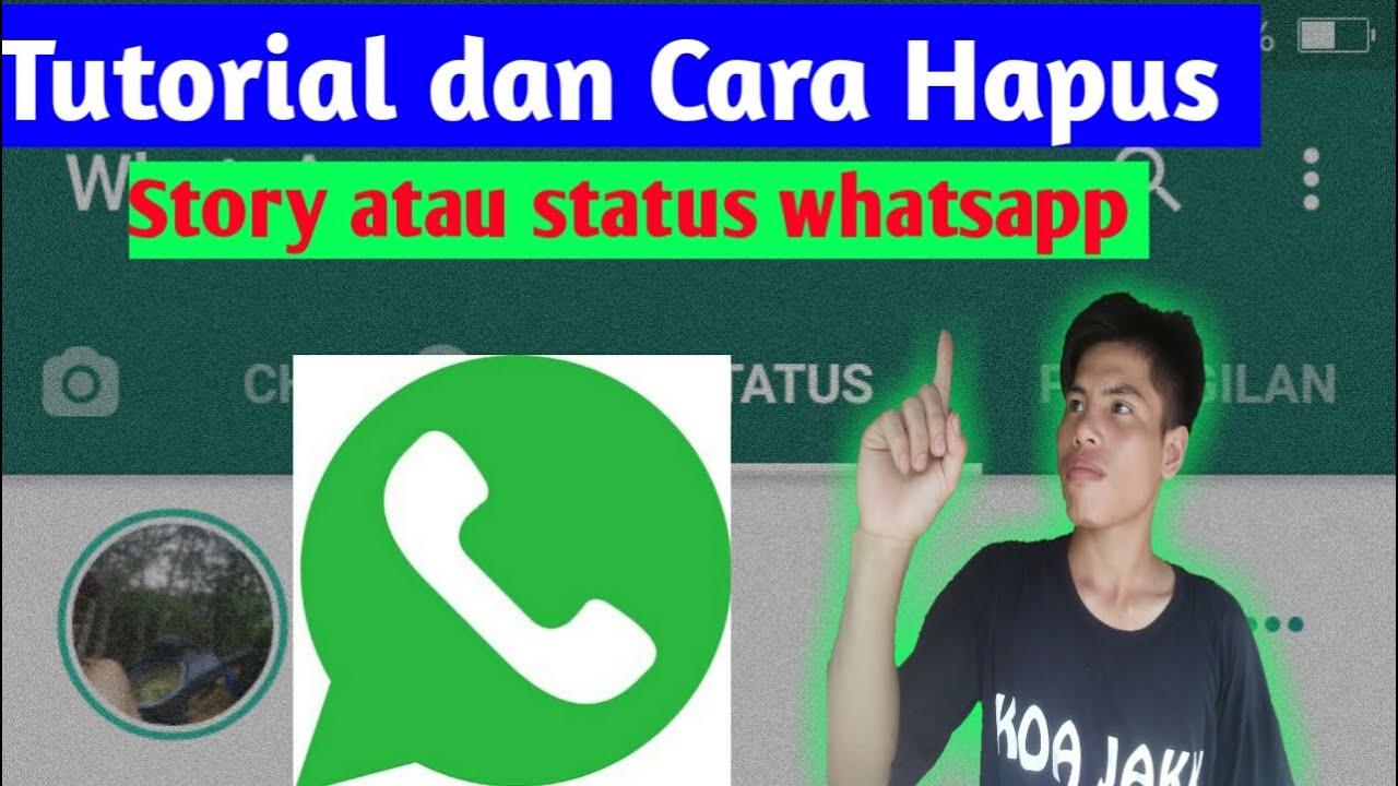 Cara menghapus story whatsapp//CaraKu Id.