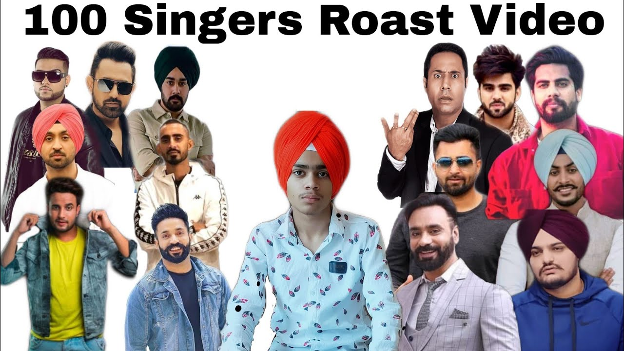 100 Singers Roast Video || World record of Roasting || First Time In Roast History || Punjabi Songs
