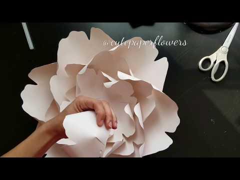 Template 14 medium flowers, diy peony, peony tutorial, diy paper flower