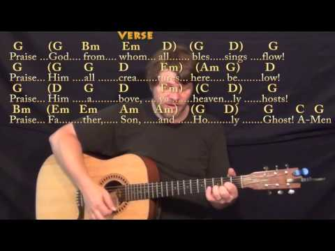 From Whom All Blessings Flow (Doxology) Strum Guitar Cover Lesson in G with Chords/Lyrics