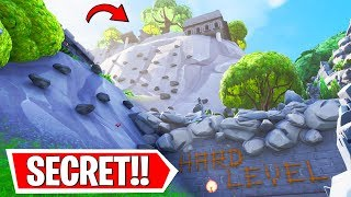 I CLIMBED the Fortnite DEATH MOUNTAIN and FOUND... (secret)