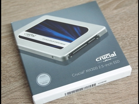 Crucial MX300 525GB SATA 2.5 Inch SSD Retail Unboxing - CT525MX300SSD1