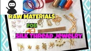 Silk Thread Jewellery Making Supplies   Silk Thread Bangles   Silk Thread Earrings New 2018