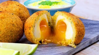 Шотландские Яйца В Фалафеле: Очень Вкусный Рецепт. Без Мяса.