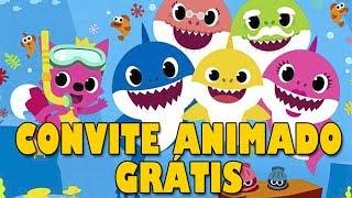 Convite Animado Baby Shark Grátis