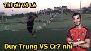 Thử thách bóng đá sút Vô lê như Ronaldo với Quang Hải Nhí Duy Trung so tài CR7 nhí Việt Nam
