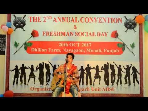Phoong Phoong Song of The Kiratas Cover by Raxiv Daimary At Freshman Social Day,Chandigarh