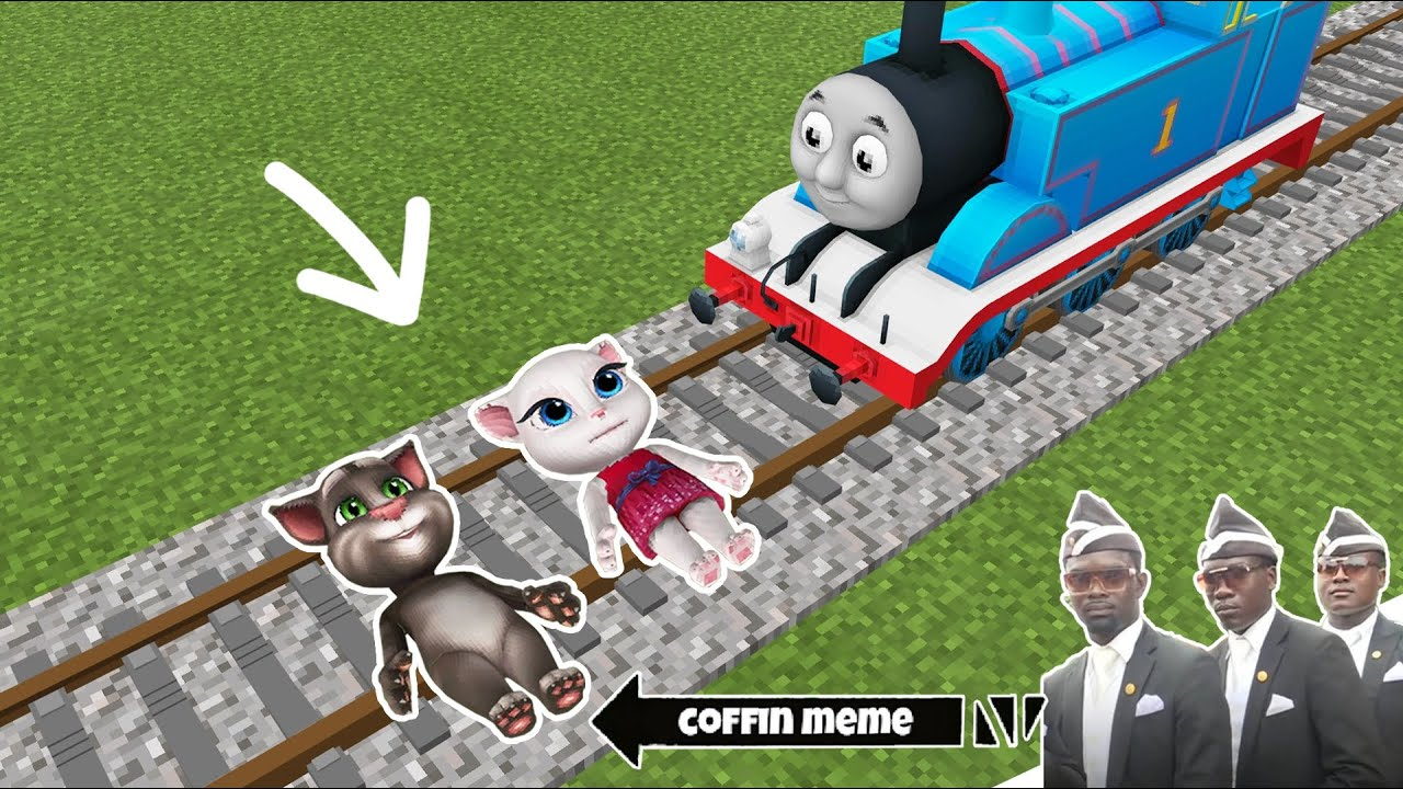 Thomas vs Talking Angela and Tom in Minecraft - Coffin Meme