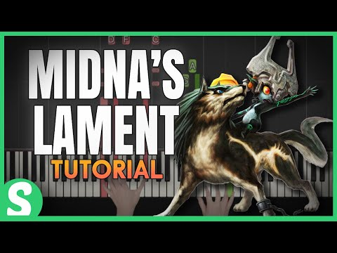 """How to play """"MIDNA`S LAMENT"""" from Legend of Zelda (Synthesia) [Piano Video Tutorial] [HD]"""