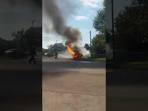 Взрыв автомобиля в Ужуре