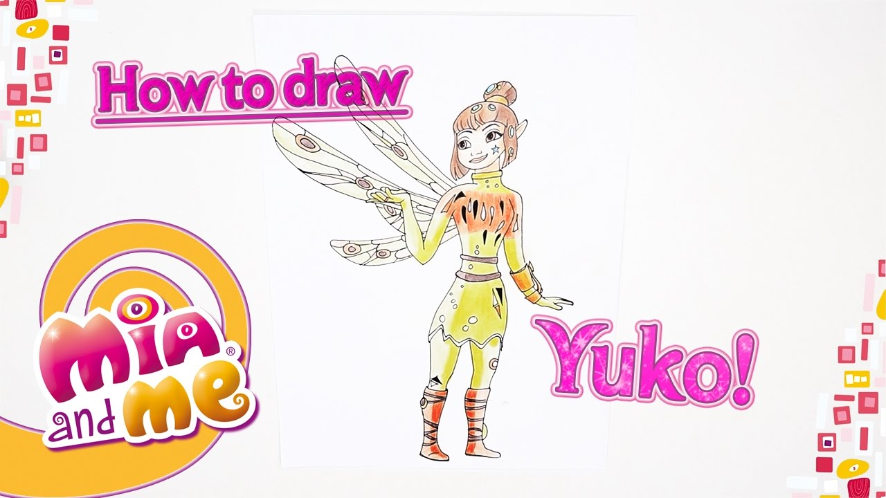 How To Draw Yuko Mia And Me Youtube