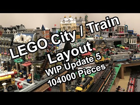 Lego Town-Train Layout WIP - Update 5 (104000 pieces update, with comments)