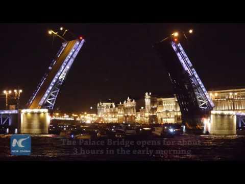 St. Petersburg drawbridge opening with music turns to be tourist draw
