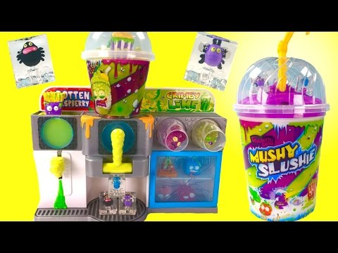 Grossery Gang Mushy Slushy Machine Playset & Mushy Slushy Collector's Cup! Exclusive Grosseries