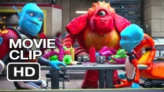 Escape from Planet Earth Movie CLIP - Food Fight (2013) - Brendan Fraser Movie HD