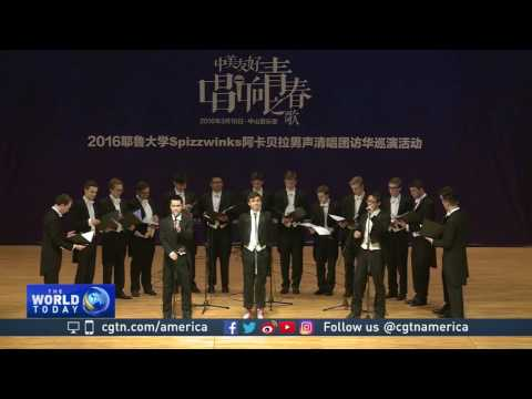Yale a capella group finds harmony in China-US people to people exchange