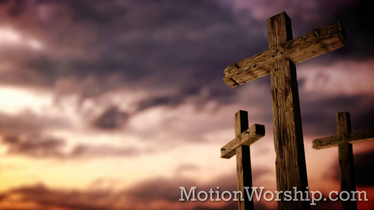 Rugged Cross Calvary Sunset Hd Looping Background By