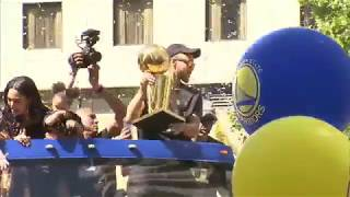 Steph Curry Warriors 2017 championship parade