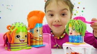 Видео для детей. Делаем прически из Плей До