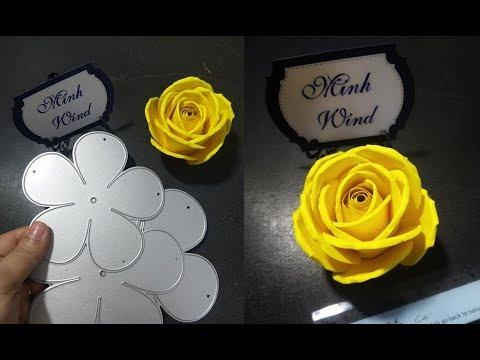 Hướng dẫn làm hoa hồng 5 cánh