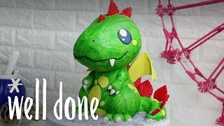 How to Make a Dragon Cake | Recipe | Well Done