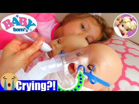 🤒Baby Born Twins Get Breathing Treatment + Medicine To Get Better! 💊Baby Born Twins Sick Routine 💖