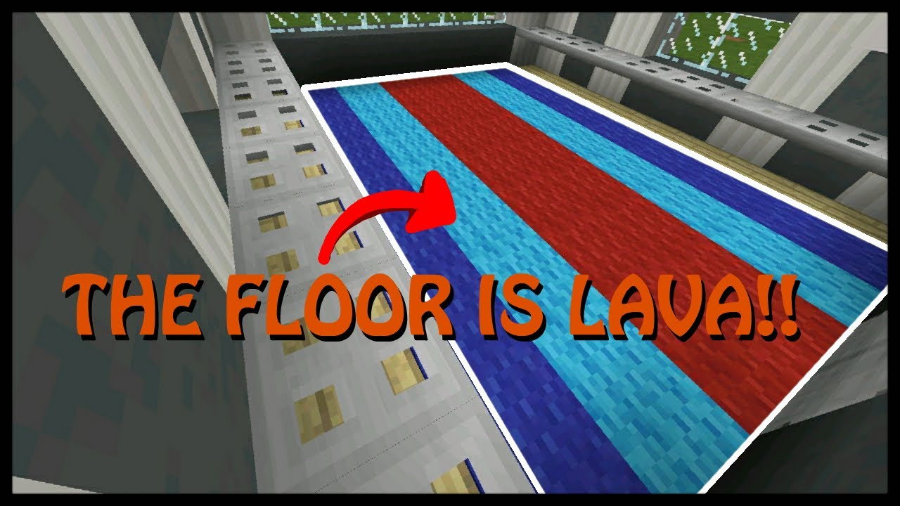 Minecraft Mcpe How To Make The Floor Lava Is Challenge