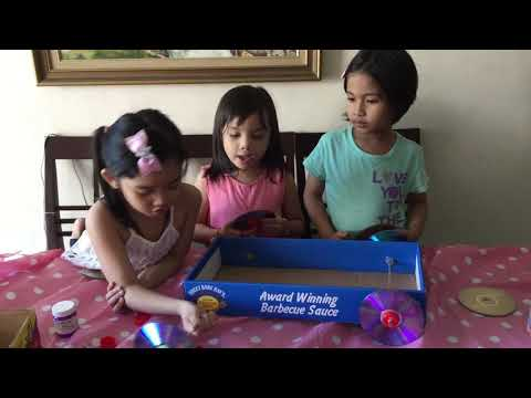 Simple Invention: Toy Wagon using Recycled Boxes and CDs